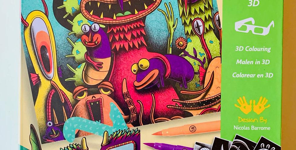 Funny Freaks 3D Coloring Set
