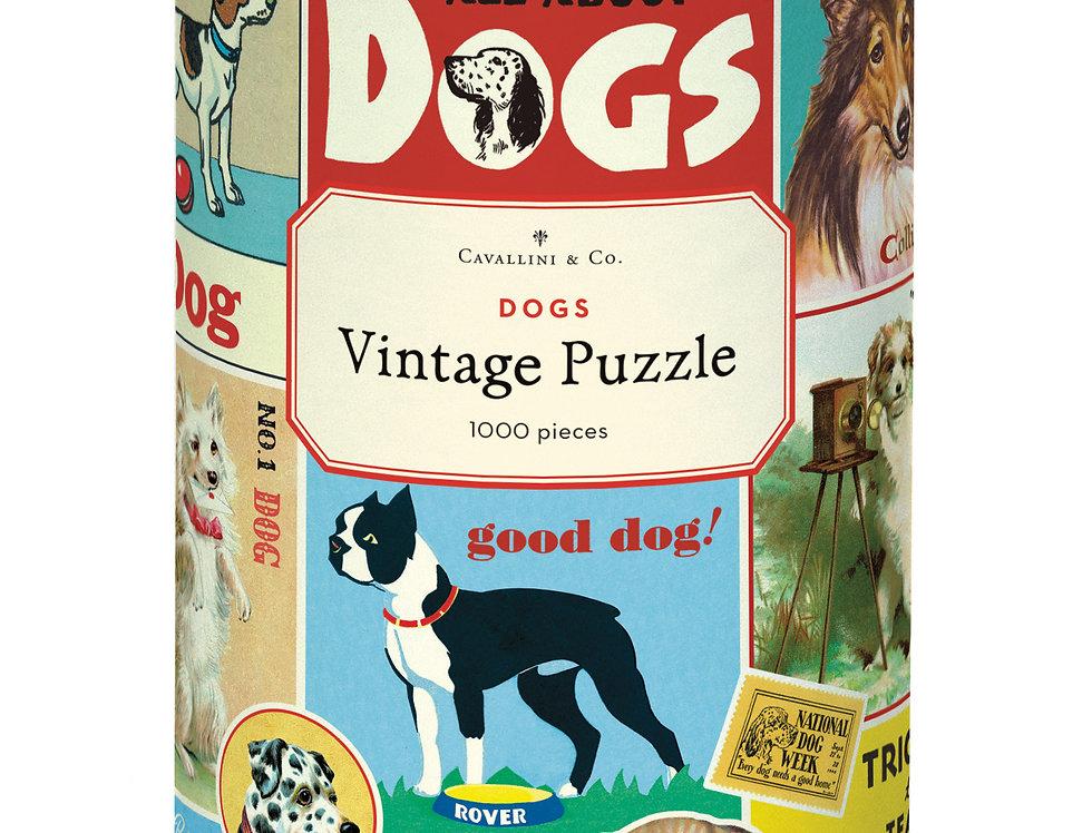 Cavallini Dogs Puzzle