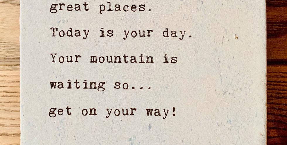 """""""Great Places"""" Dr. Seuss Plaque"""