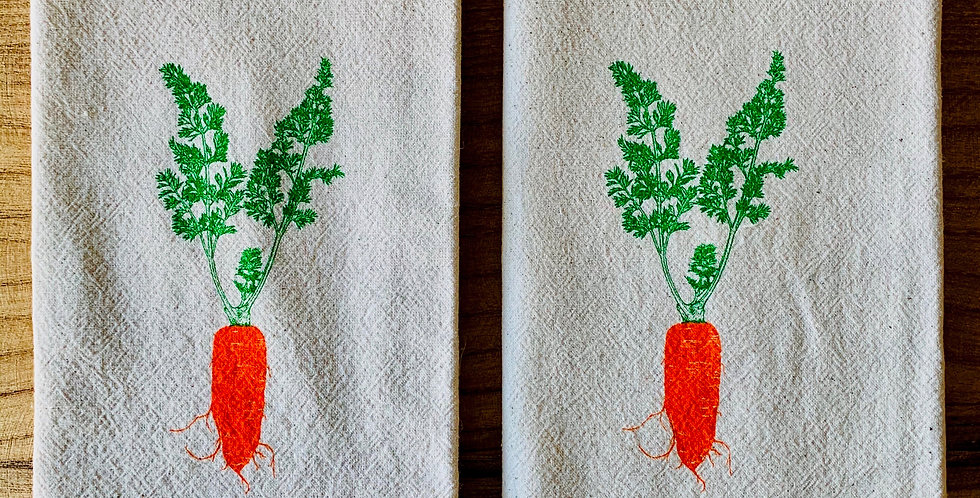 Sprouted Design Carrot Napkins  (Sold in sets of 2)