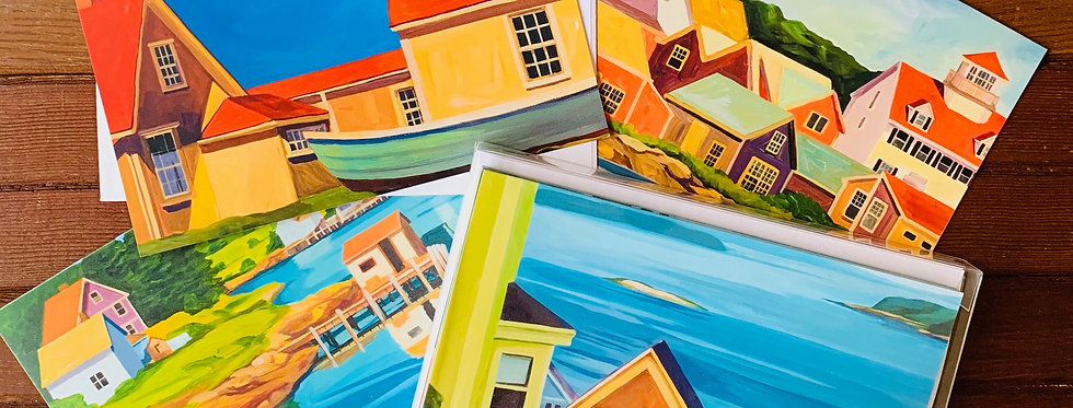 """Coastal Towns"" Note Card Set"
