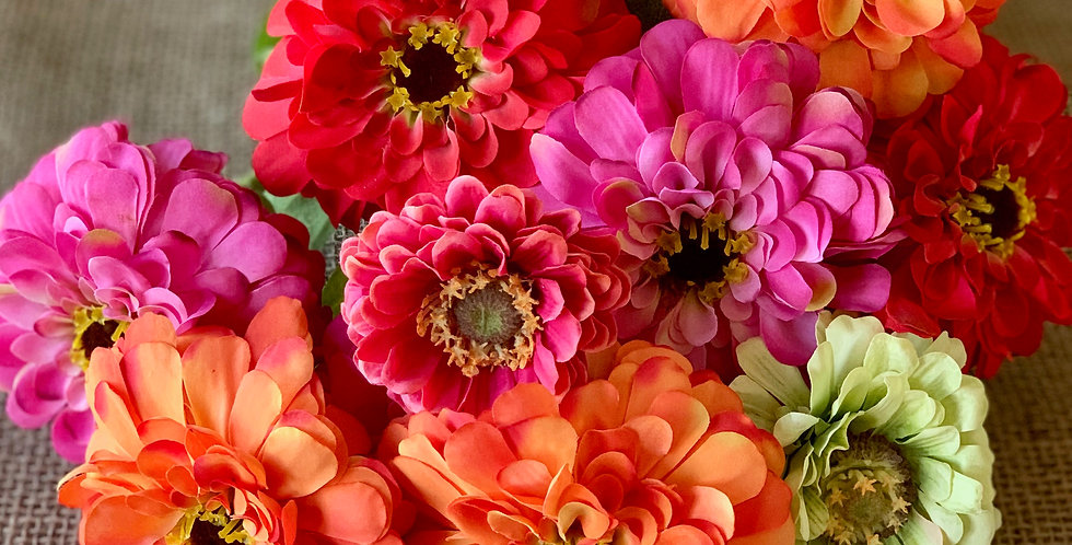 Faux Garden Zinnia (Sold Individually)