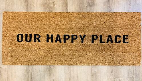 """""""Happy Place"""" Doormat"""