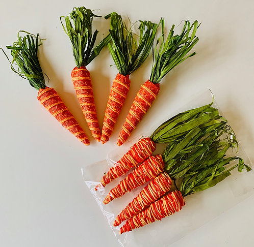 Carrot Table Scatter, Set of 4