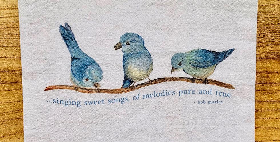 Blue Birds Flour Sack Towel
