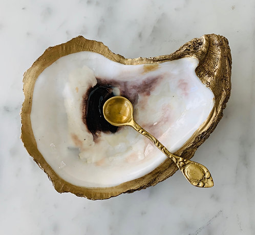 Oyster Salt Dish (Spoon Sold Separately)