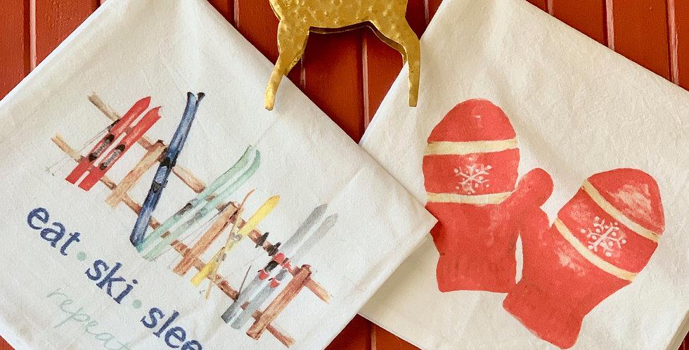 Winter Flour Sack Towels