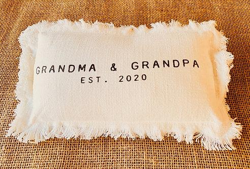 Grandma & Grandpa Pillow