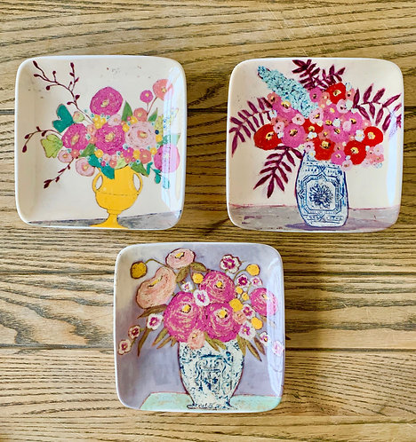 Square Floral Plates (sold separately)