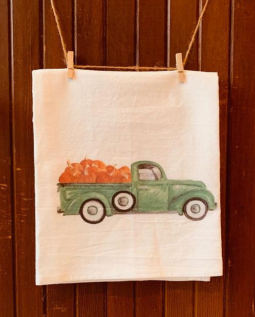 Pumpkin Truck Flour Sack Towel