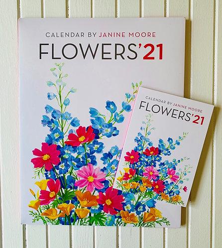 "Flowers 2021 Calendar by Janine Moore (11"" x 14"")"