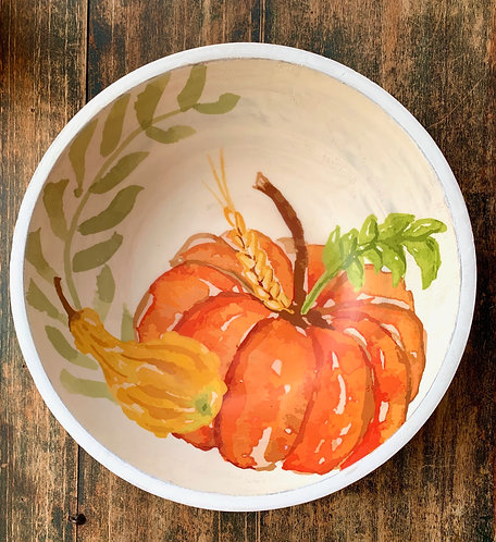Pumpkin Serving Bowl