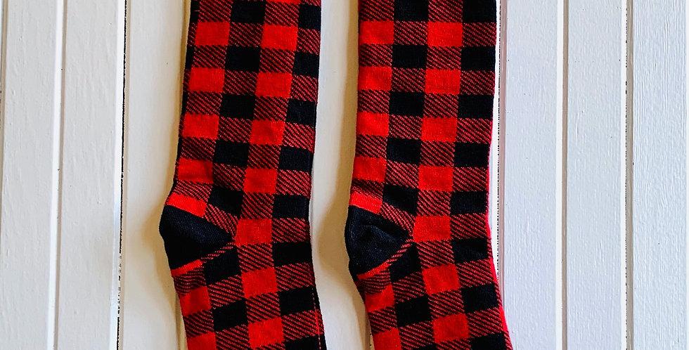 Red Plaid Socks by Funatic