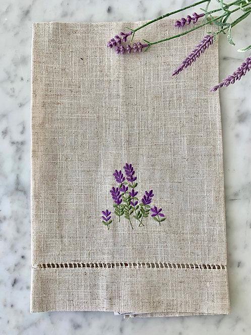 Lavender Linen Towels