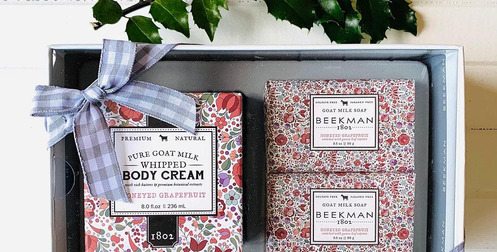 Beekman Honeyed Grapefruit Soap & Body Cream Sampler