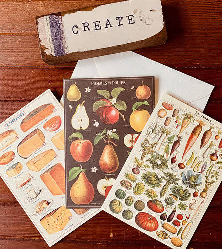 Cavallini Note Cards (Sold Individually)