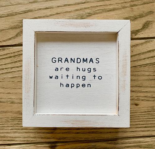 Grandma Hugs Plaque