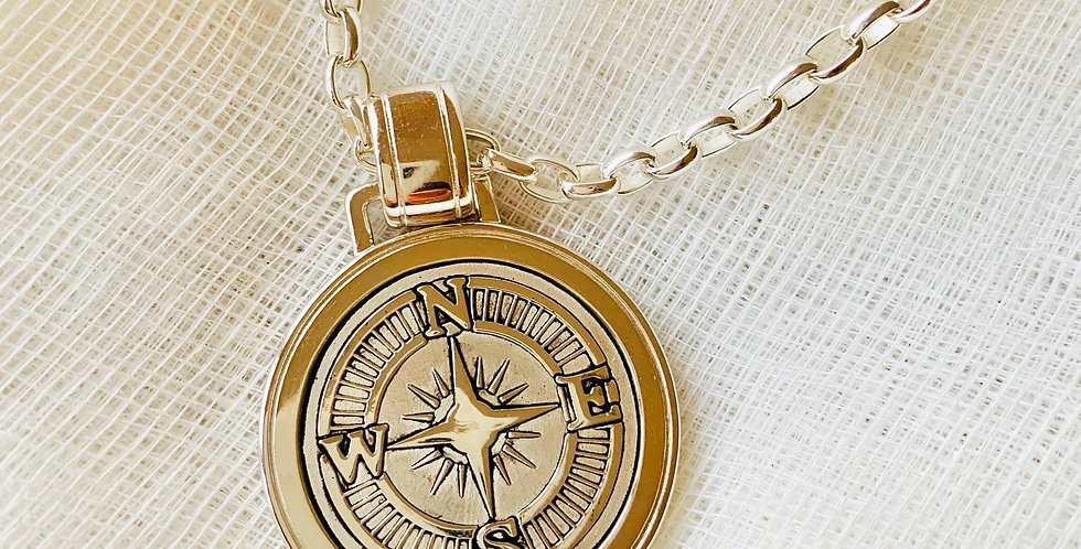 Compass Rose Pendant - Large (Chain Sold Separately)