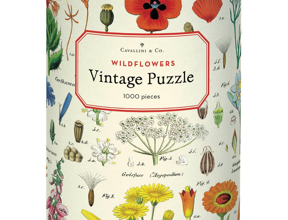 Cavallini Wildflowers Puzzle