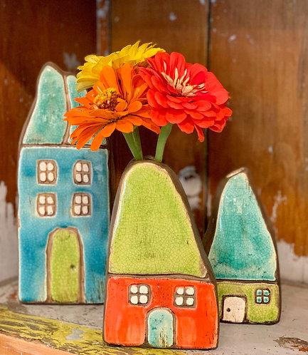 Mini House Bud Vases
