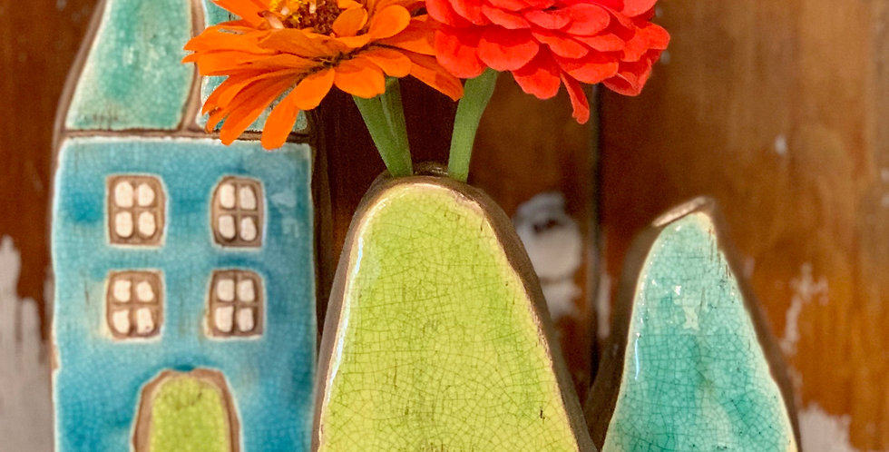 Mini House Bud Vases