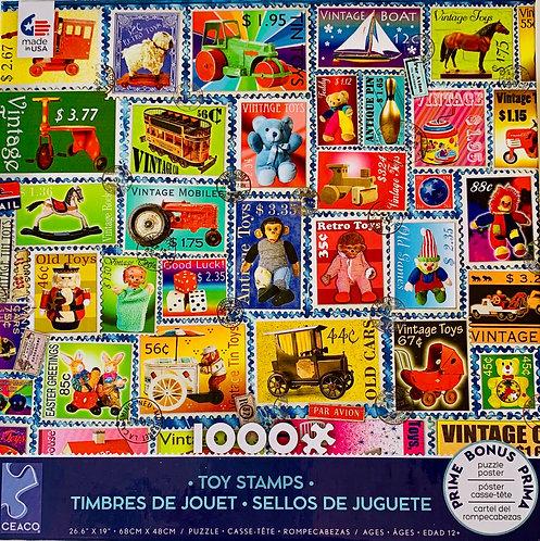 Vintage Toy Stamp Puzzle