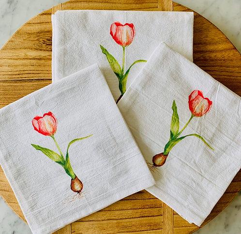 Tulip Tea Towel by Tina Labadini