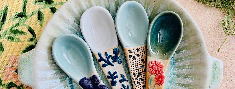 Stoneware Serving Spoons