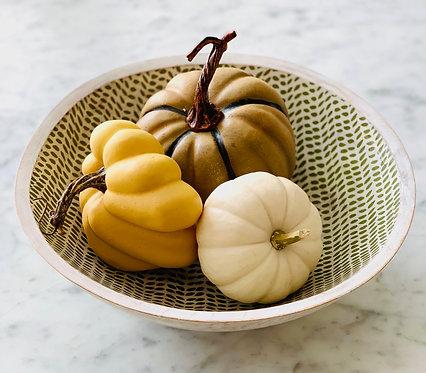 Leaf Enamel Bowl