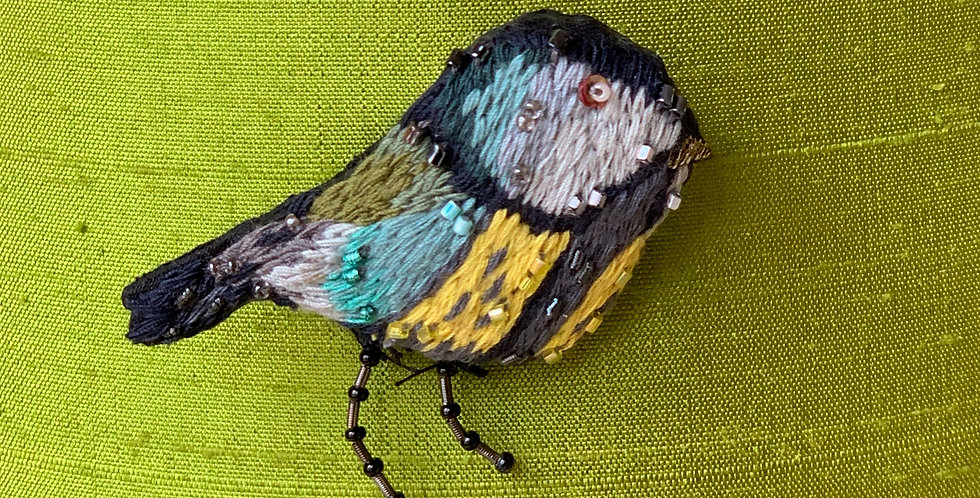 Folk Chicadee Pin