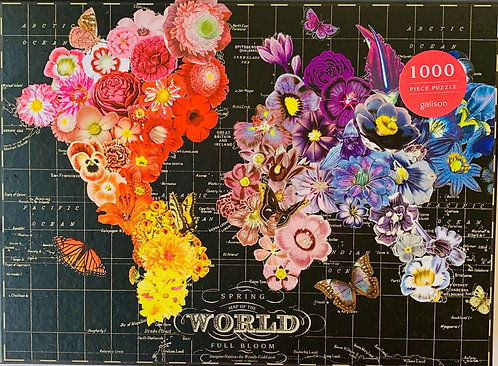 World Map in Full Bloom Puzzle