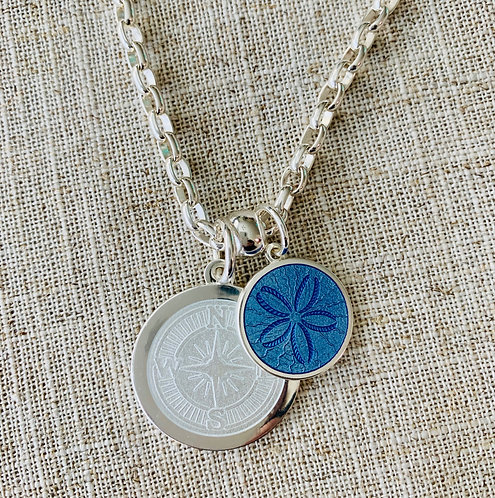 LOLA Compass Rose Pendant - Medium (Sand dollar and chain sold separately)
