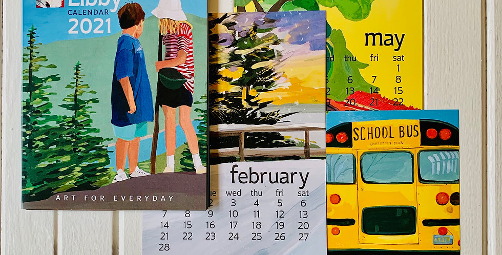 "Kate Libby 2021 Desk Calendar (5"" x 7"")"