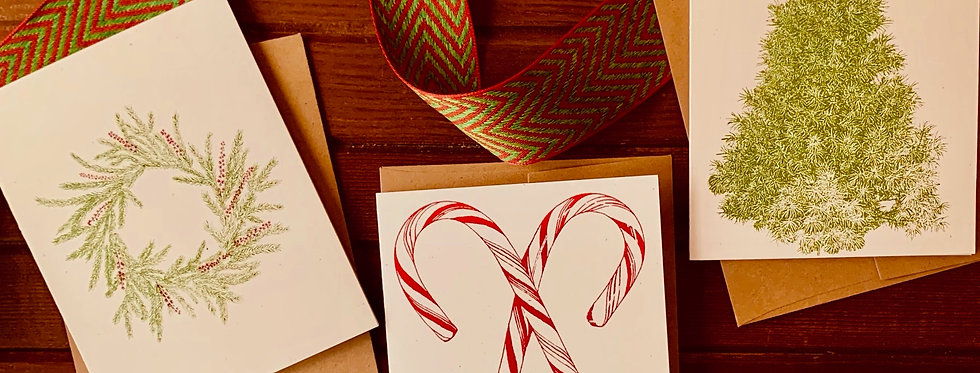 Sprouted Designs Holiday Greeting Cards