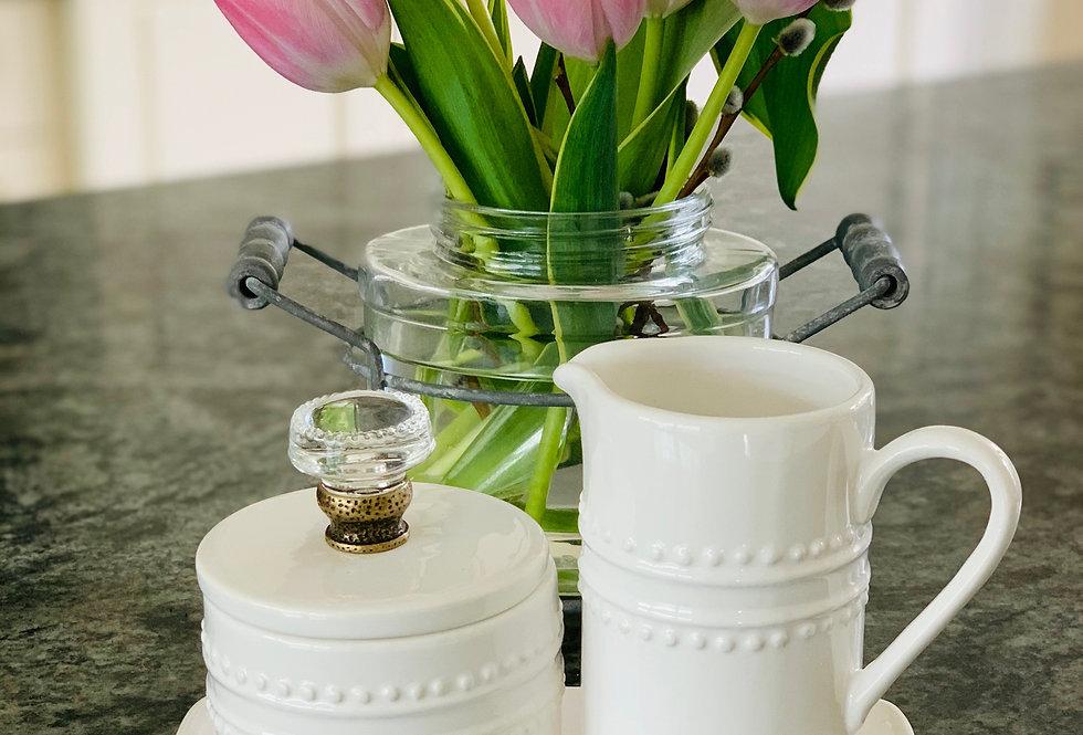 Cream & Sugar Door Knob Set