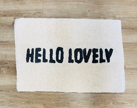 """Hello Lovely"" Bath Mat"