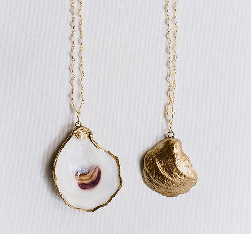 "Oyster Necklace ""Little Folly"" by Grit & Grace"