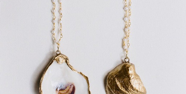 "Oyster Necklace ""Little Folly"" by Grit & Grace"