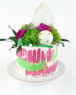 Another last weeks graduation cakes theme for this cake is floorball and colour 💚💕 - lisää valmist