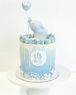 Baby shower cake for baby boys party