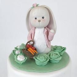 Girl bunny in the vegetable garden 🥕#fondant #bunny #sokerimassa #frangipanibakery #cake #cute #gir