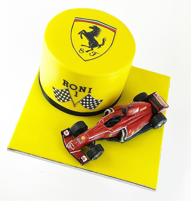 When dad can choose theme for the first birthday party -it has to be Ferrari F1 🏎 #frangipanibakery