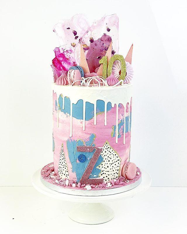 High drip cake for company's 10 year bir