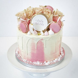Cute little cake for little girl congratulations Aada Matilda #frangipanibakery #cake #cakedecoratin
