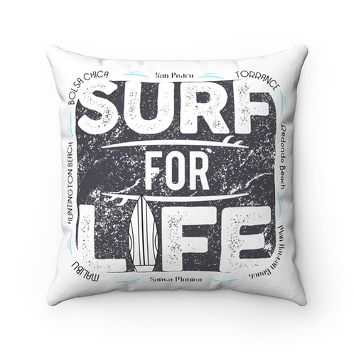 Surfer Pillow | White Surf Pillow And Case | South Bay California Surf Pillow