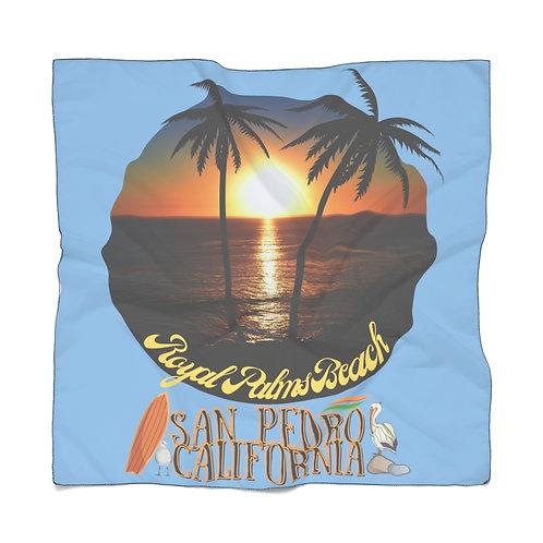 San Pedro California Light Blue Scarf