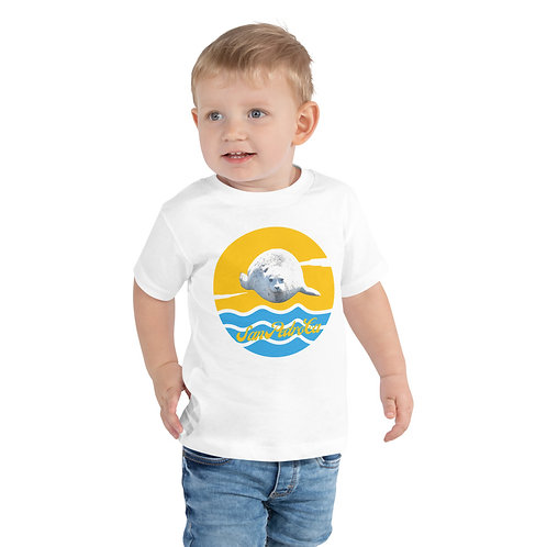 San Pedro California Toddler Short Sleeve Tee  | White Seal