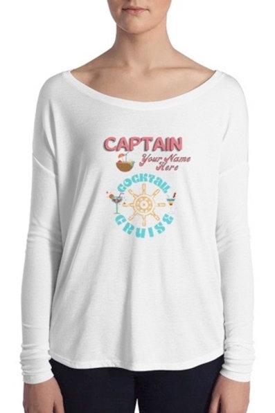 Captain Women's L/S Flowing Top Personalized