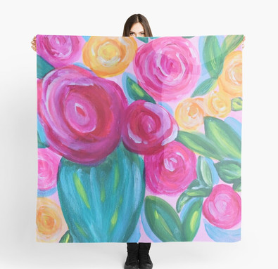 Pink Floral Scarf By Concetta Ellis Shop