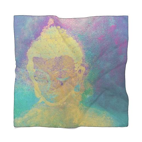 Buddha Girl Abstract Poly Scarf
